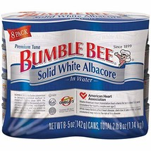 Bumble Bee Solid White Albacore Tuna, 5 Oz, Pack Of 8 Cans image 1