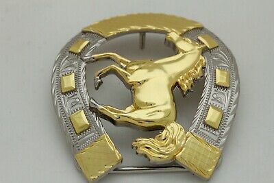 Hombre Western Cowboys Cinturón Hebilla Metal Plateado Caballo Rodeo Detalle image 6
