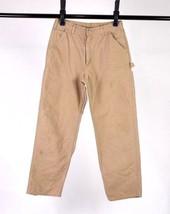 Carhartt Canvas Dungaree Fit Carpenter Jeans Work Pants Tan Khaki Mens 3... - $24.74