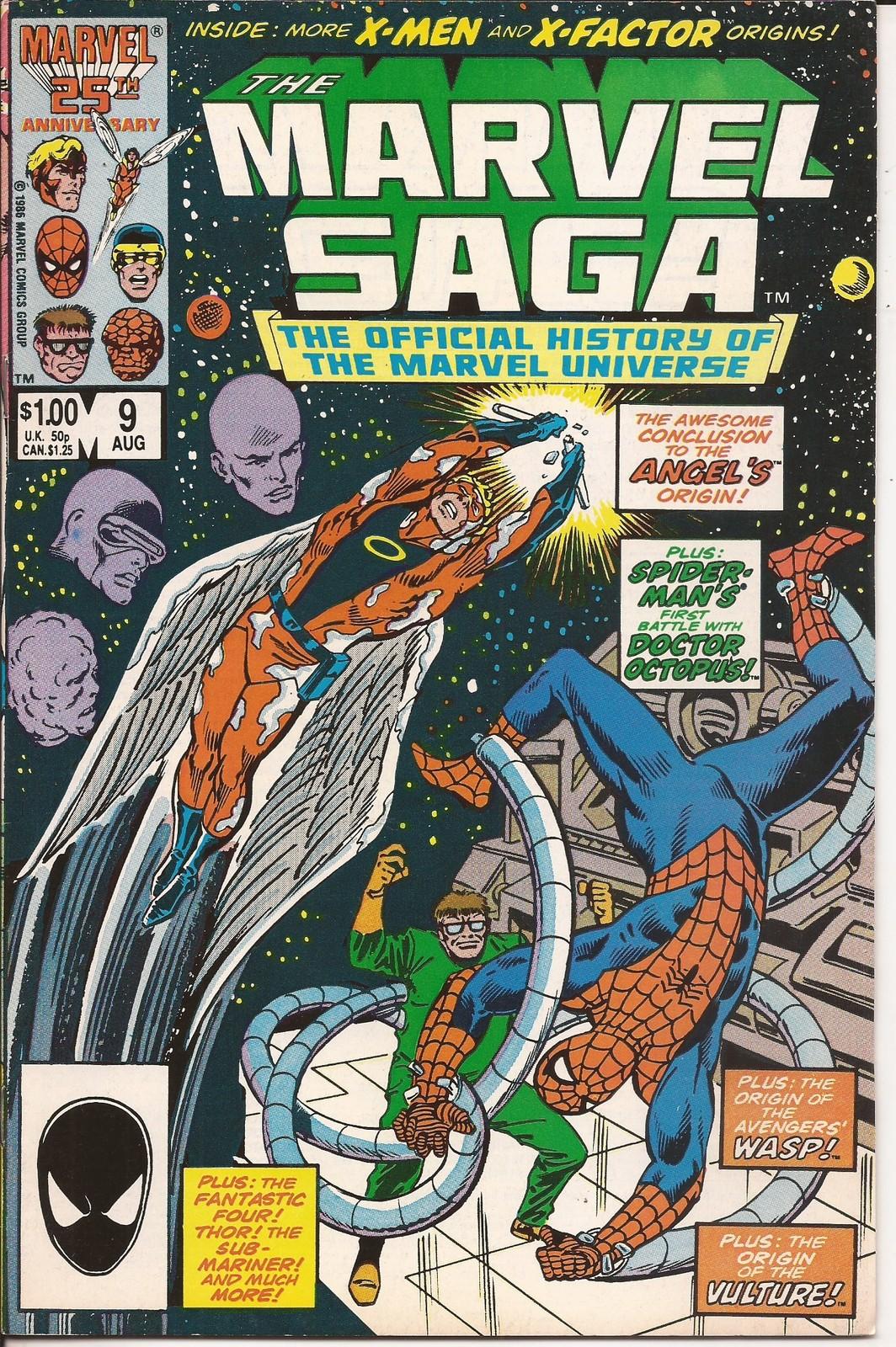 Marvel Saga #9 Spider-Man Wasp Vulture Angel Doctor Octopus X-men