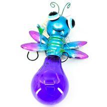 Regal Art & Gift Metal & Glass Firefly Hanging Solar Light Garden Decor image 3