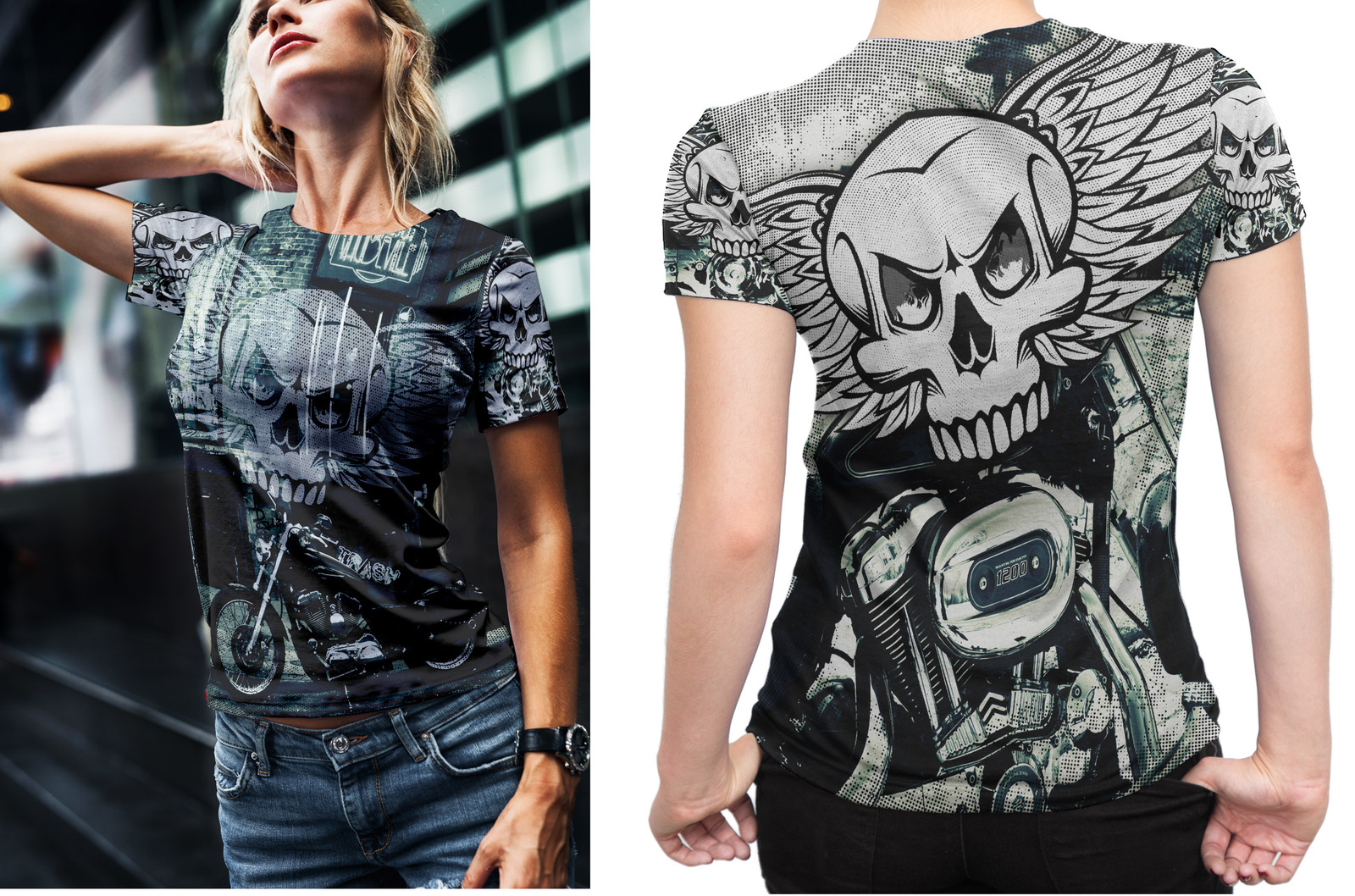 Primary image for Biker Collection #1 Women's Fullprint T-Shirt