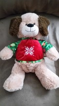 "2017 CHRISTMAS DOG with Sweater Brand New Plush Stuffed Animal NWT 17"" - $14.99"