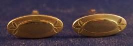 Vintage Swank Goldtone Men's Cufflink Set - $9.89