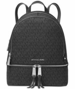 Michael Kors Rhea Zip Backpack (Medium, Signature Charcoal) - $345.00