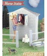Horse Stable, Fence fits Barbie NEW Plastic Canvas Pattern Leaflet - $3.58