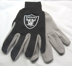 Nfl Nwt 2-TONE No Slip Utility Work Gloves Mc Arthur - Oakland Raiders - $8.25