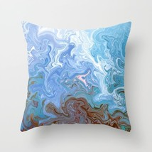 Throw Pillow Case Cushion Cover USA Design 52 Blue swirls digital art L.Dumas - $29.99+