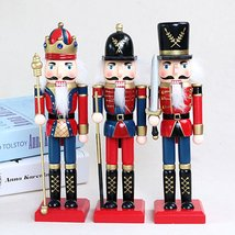 25cm Wooden Nutcracker Doll Soldier Vintage Handcraft Decoration Christm... - $28.98