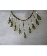 Vintage crystal choker created from reclaimed crystal beads - $48.00
