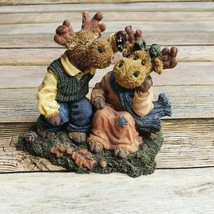 Boyds Collection Mervin & Mattie Under The Mooseltoe Moose Troop Style 36903 - $29.69