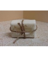 Home Made Artisan Craft Sweet Almond Milk Soap Sample Hand Made Tied wit... - $9.74