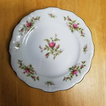 Johann Haviland Moss Rose Bread Plate White with Pink Roses Bavarian Bac... - $3.22