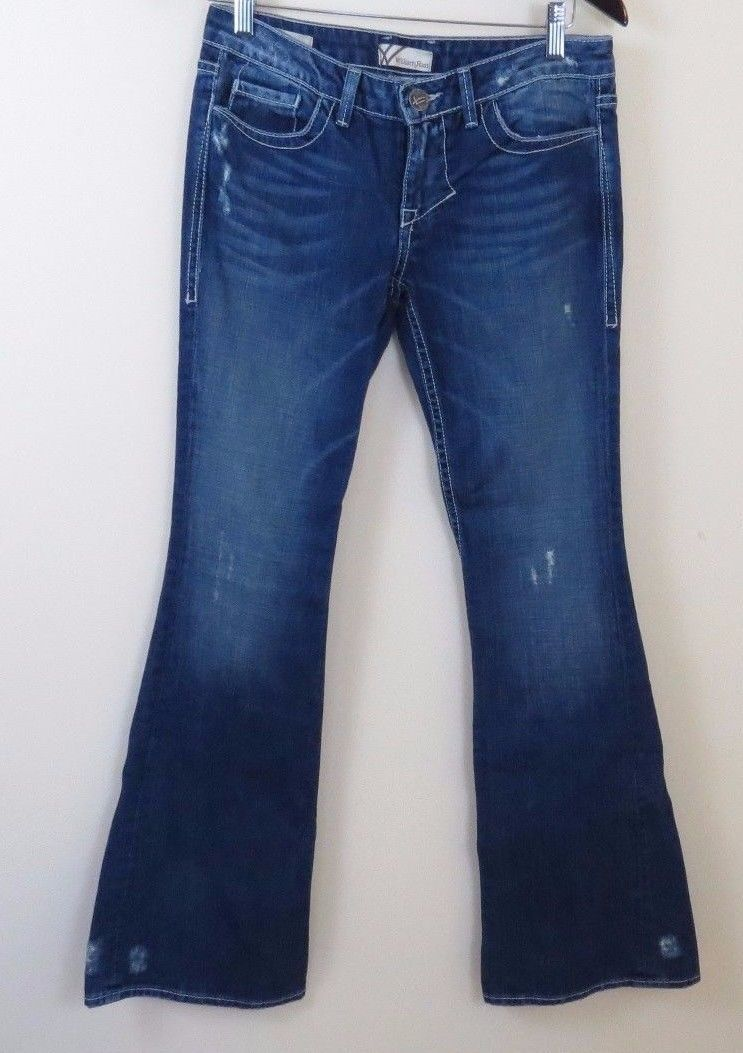 William Rast Belle Flare Distressed Jeans Women's Size 26 Made in USA