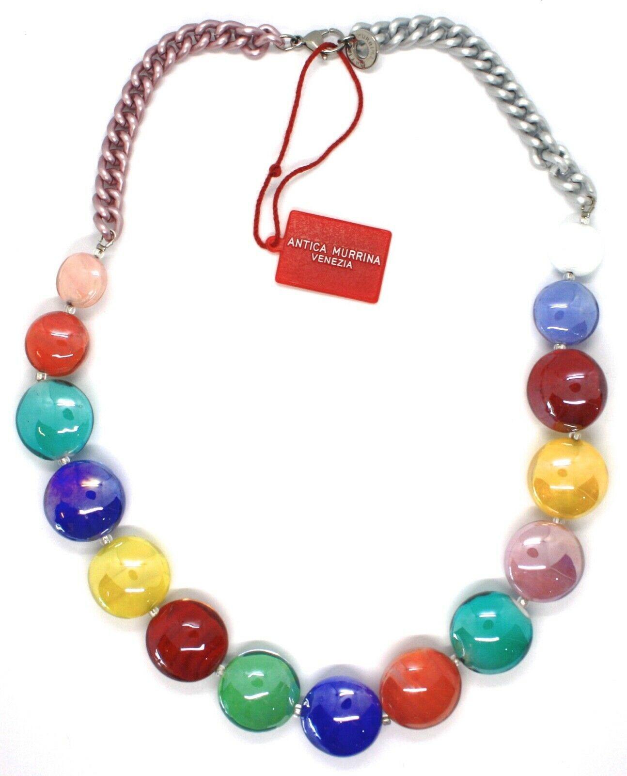Necklace Antique Murrina, CO833A19, Chain Groumette, Discs, Multi Colour