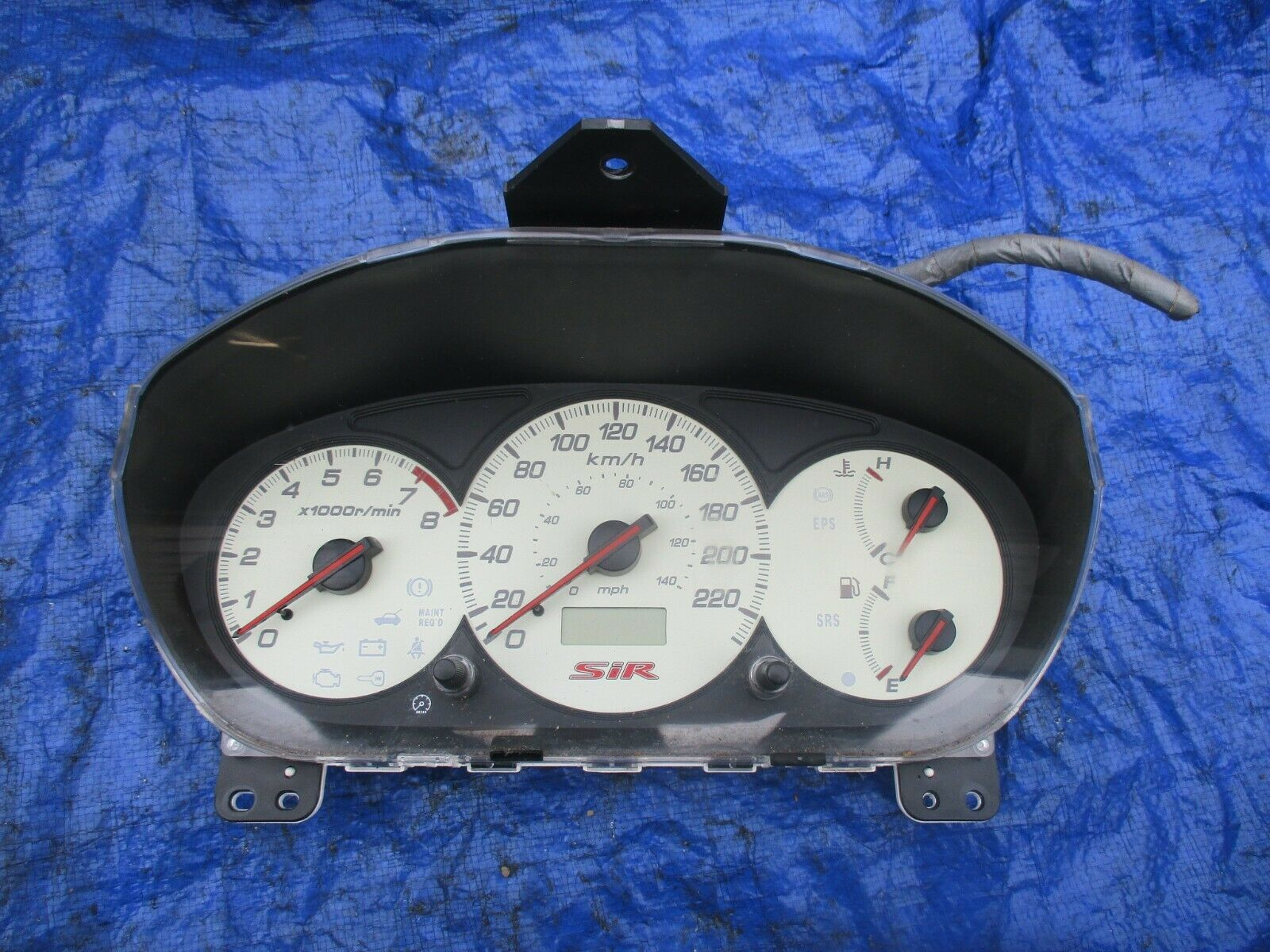 Primary image for 02-04 Honda Civic EP3 SIR instrument gauge cluster OEM speedo 78100-S5T-C110 KMH