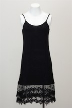 Black Lace Slip Dress, Lace Trim Dress, Dress Extender, Slip Extender
