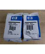 Lot Of 2 HP 22 Tri Color Ink Cartridges Genuine Sealed Free Shipping  - $21.77