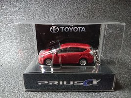 Toyota Prius α Led Light Keychain Dark Red Mini Car Not Sold In Stores - $26.82