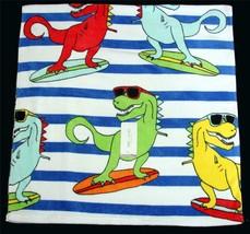 SURF'S UP DINO Dinosaurs Surfing Bright Lightweight Beach Towel 28 X 58 ... - $22.99