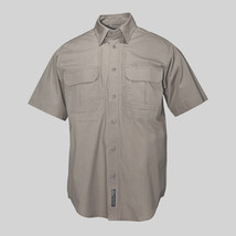 5.11 Tactical Mens Cotton Short Sleeve Shirt Size Large Style #71152 Khaki - $44.99