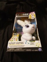 New Zoomer Interactive Robot Hungry Bunnies White Bunny chewy minor shel... - $29.99