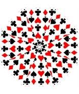 Folding Umbrella playing cards magician poker gambler hearts spades pike... - $45.00