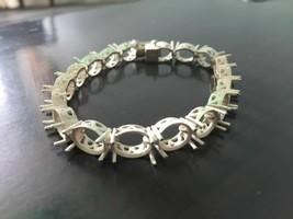 8x10 mm oval Silver Semi Mount Bracelet Sterling Silver Bracelet Mounts ... - $55.08