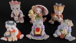 Kitten Cat Figures Figurines Lot of 6 Bronson Collectives & JH Brands Kitty - $22.79