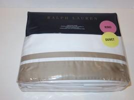 Ralph Lauren Bowery Cape Tan King Duvet Cover New $470 - $192.98