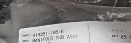 Manifold 419251-105  Sub Assy Lift Aerospace New image 6