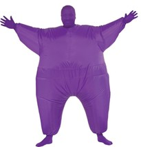 Skin Suit Costume Inflatable Purple Fat Suit Adult Men Women Halloween R... - $59.99