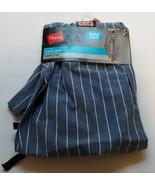 NWT HANES Mens Pajama Woven Sleep Pants Comfort Flex Small Blue W White Stripes - €9,73 EUR