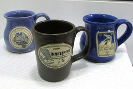 DENEEN Pottery Stoneware Mug LOT (3) paii Conference Austin Texas Myrtle... - $19.98