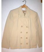Nice Womens 10 Blazer Jacket Office Vintage Jones New York Beige 8 butto... - $220.00