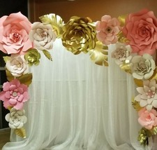 15 pcs Very Gyant Paper Flower Backdrop,Nursery Decor, Giant Paper Flowe... - $135.00
