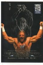"""2002 Fleer WWF Backlash """"Triple H"""" PPV Poster Insert Card (Mint) {4044} - $9.89"""