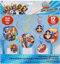 DC Super Hero Girls Hanging Swirls 12 pc Birthday Party Decorations New - $6.88