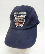 Harley-Davidson Baseball Hat Cap Eagle Flag Blue Adult Vintage Distress - $39.95