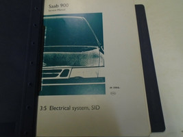 1994 1995 1996 Saab 900 3:5 Electrical System Instruments Service Manual... - $133.64
