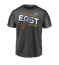 NBA Men's 2018 Eastern  Conference Cleveland Cavaliers Grey Locker Room ... - €48,32 EUR