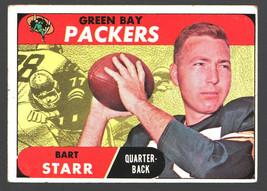 1968 Topps Football  #1 Bart Starr Packers HOF VG+  *dw80808 - $25.13