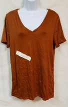 A New Day Copper Colored Women's Short Sleeve Shirt NWOT - $15.83