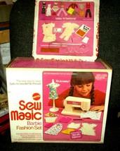 1974 Mattel Barbie Doll Sew Magic Sewing Machine In Box and Sew Magic Add Ons - $7.91