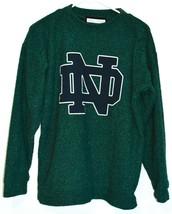 Woolly Threads Original Heather Green Navy Blue Notre Dame ND Sweatshirt Size S image 1