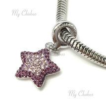 Swarovski European Hang Bracelet Charm Stainless Steel BeCharmed Pave Crystal image 8