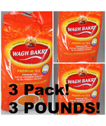3 PACK ! Wagh Bakri WAGHBAKRI 1 POUNDS Loose Tea Export Quality Premium ... - $30.00
