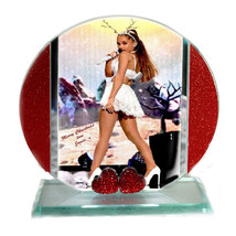Ariana Grande, Cut Glass Round Plaque, Xmas Ltd Edition | Cellini Plaque... - $27.70