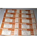 Lot of 10 Unscalloped Barry Manilow Concert Tickets 1988 Unused Scalper ... - $20.79