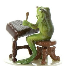 Hagen Renaker Miniature Frog Froggy Mountain Breakdown Dulcimer Ceramic Figurine